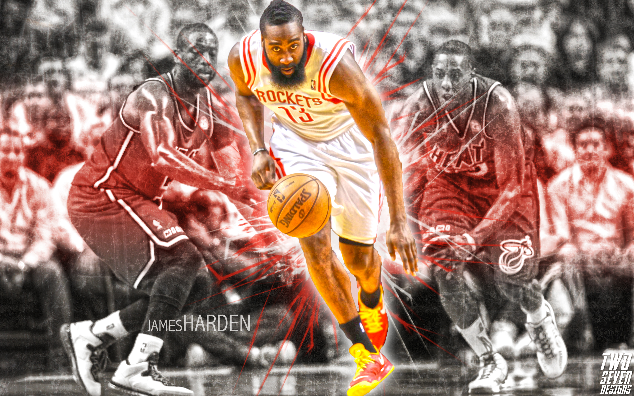 Basketball Player James Harden Wallpaper: 2014 NBA Wallpapers