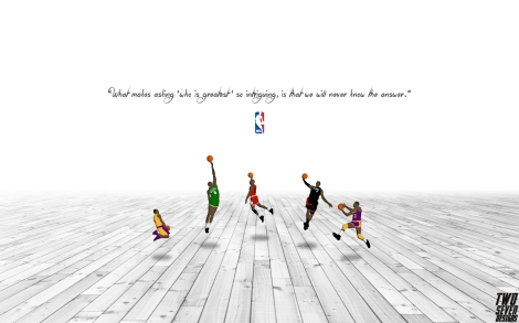 Michael Jordan Magic Johnson Lebron James Bill Russell Kobe Bryant NBA Wallpaper